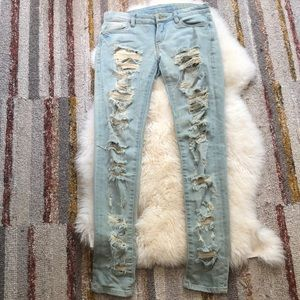Blank NYC Ripped Light Wash Denim